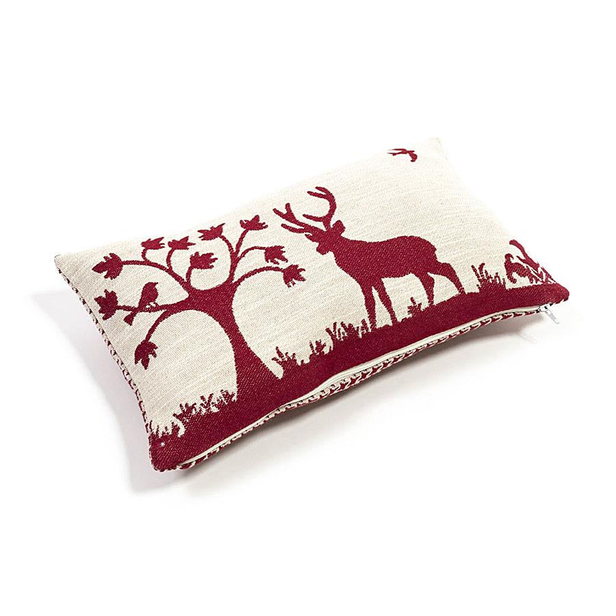 Articoli Decorazione Di Cirmolo Cuscino Di Pino Cembro Con Cervo Rosso